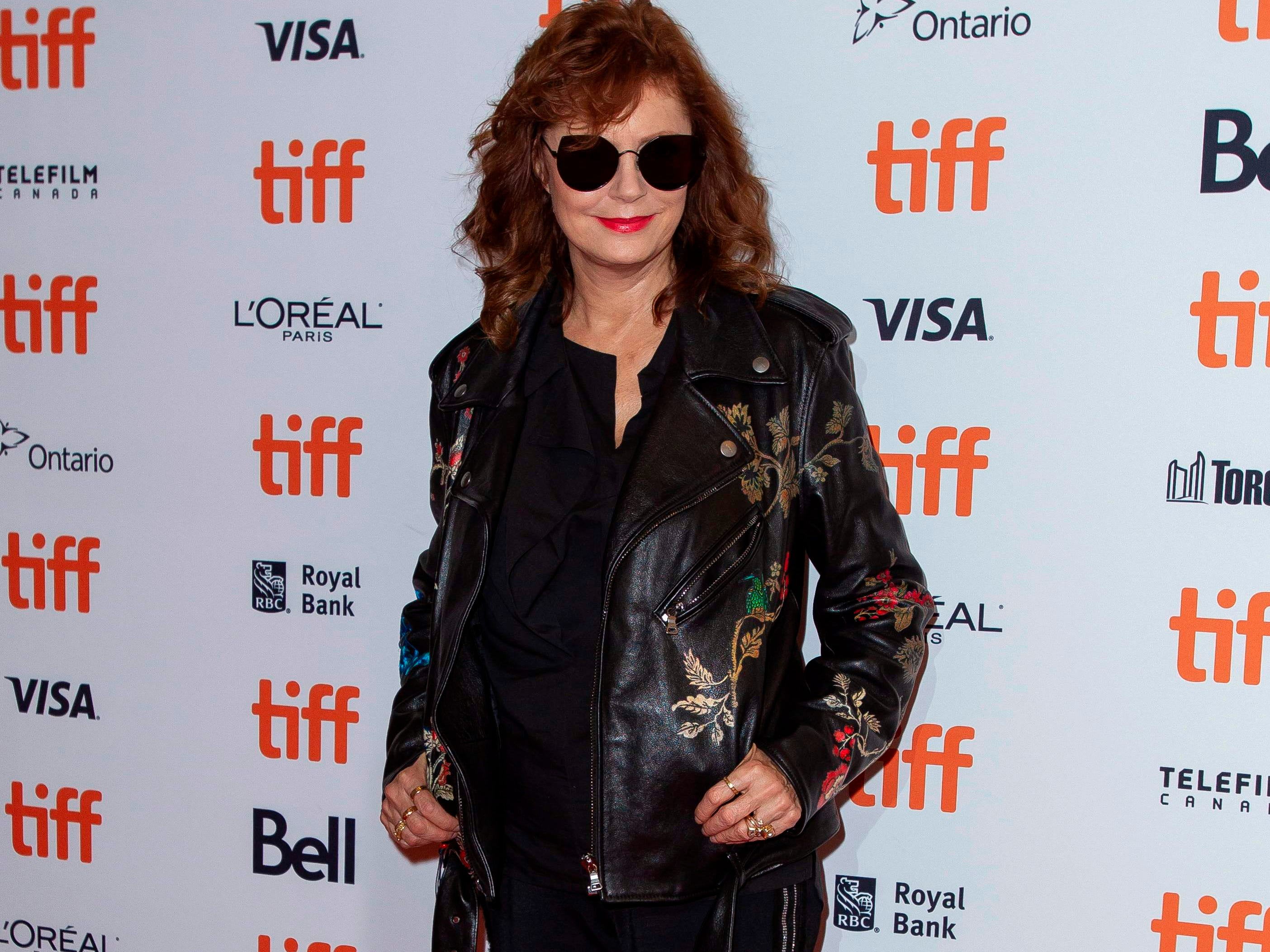 Susan Sarandon attends the premiere of 'Viper Man' at the Toronto International Film Festival in Toronto, Ontario, September 11, 2018. (Photo by Geoff Robins / AFP)GEOFF ROBINS/AFP/Getty Images ORG XMIT: Toronto I ORIG FILE ID: AFP_1911MD
