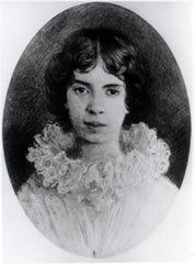 Undated portrait of poet Emily Dickinson.