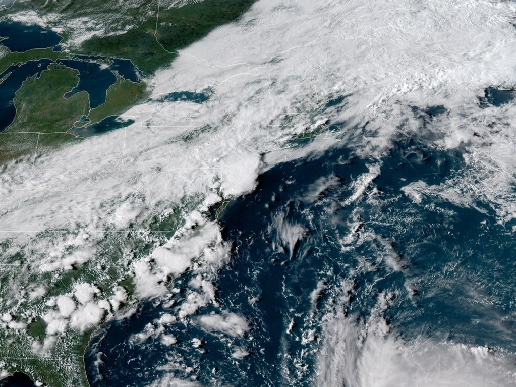 In this satellite image provided by National Oceanic and Atmospheric Administration (NOAA), Hurricane Florence churns through the Atlantic Ocean toward the U.S. East Coast.