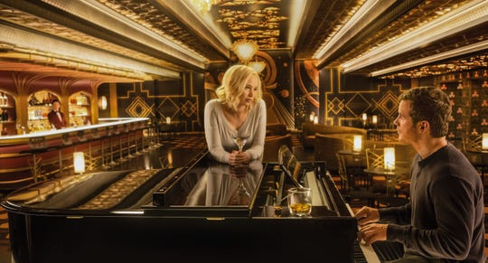 """Jennifer Lawrence and Chris Pratt have a deep space piano bar all to themselves in """"Passengers."""""""