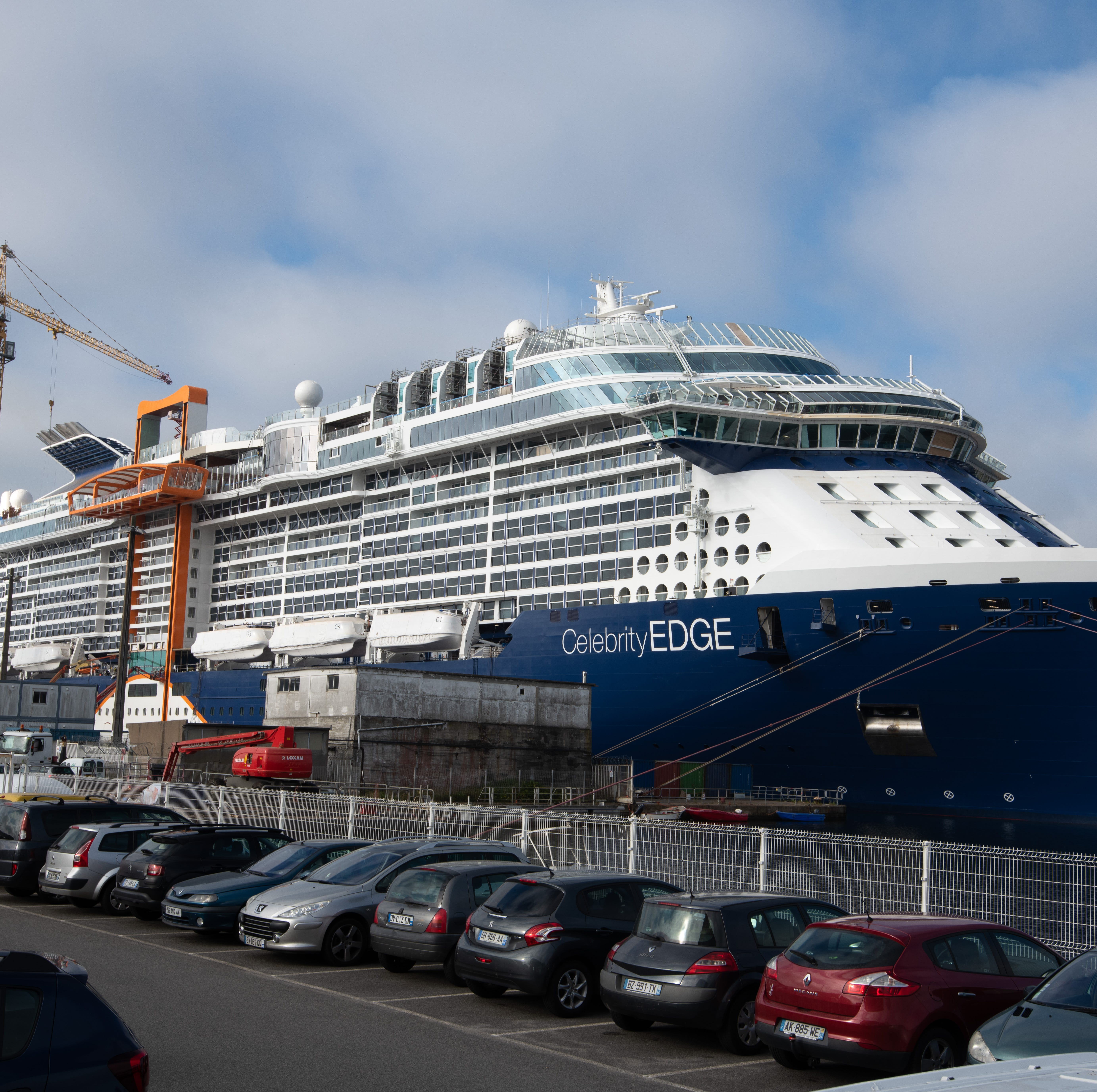 Celebrity Cruises will debut its first new ship in six years in November. Shown here under construction at the Chantiers de l'Atlantique shipyard in France, the 129,500-ton vessel will carry 2,918 passengers at double occupancy and be called Celebrity Edge.