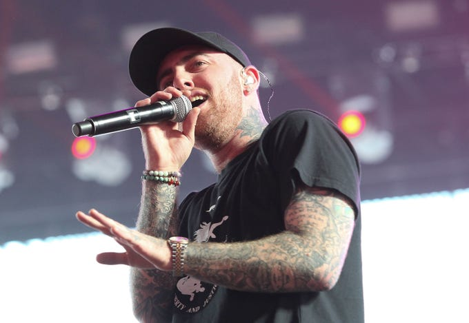 Mac Miller performs during the Coachella Valley Music and Arts Festival. The rapper, born Malcolm James McCormick, was raised in Pittsburgh and died at age 26 on Sept. 7, 2018.