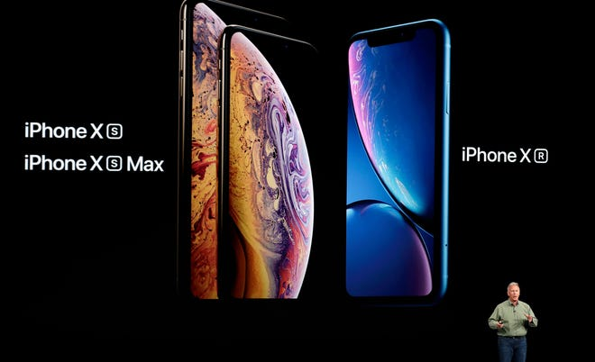 Phil Schiller, Apple's senior vice president of worldwide marketing, speaks about the new Apple iPhone XS, iPhone XS Max and the iPhone XR at the Steve Jobs Theater during an event to announce new Apple products Wednesday, Sept. 12, 2018, in Cupertino, Calif.
