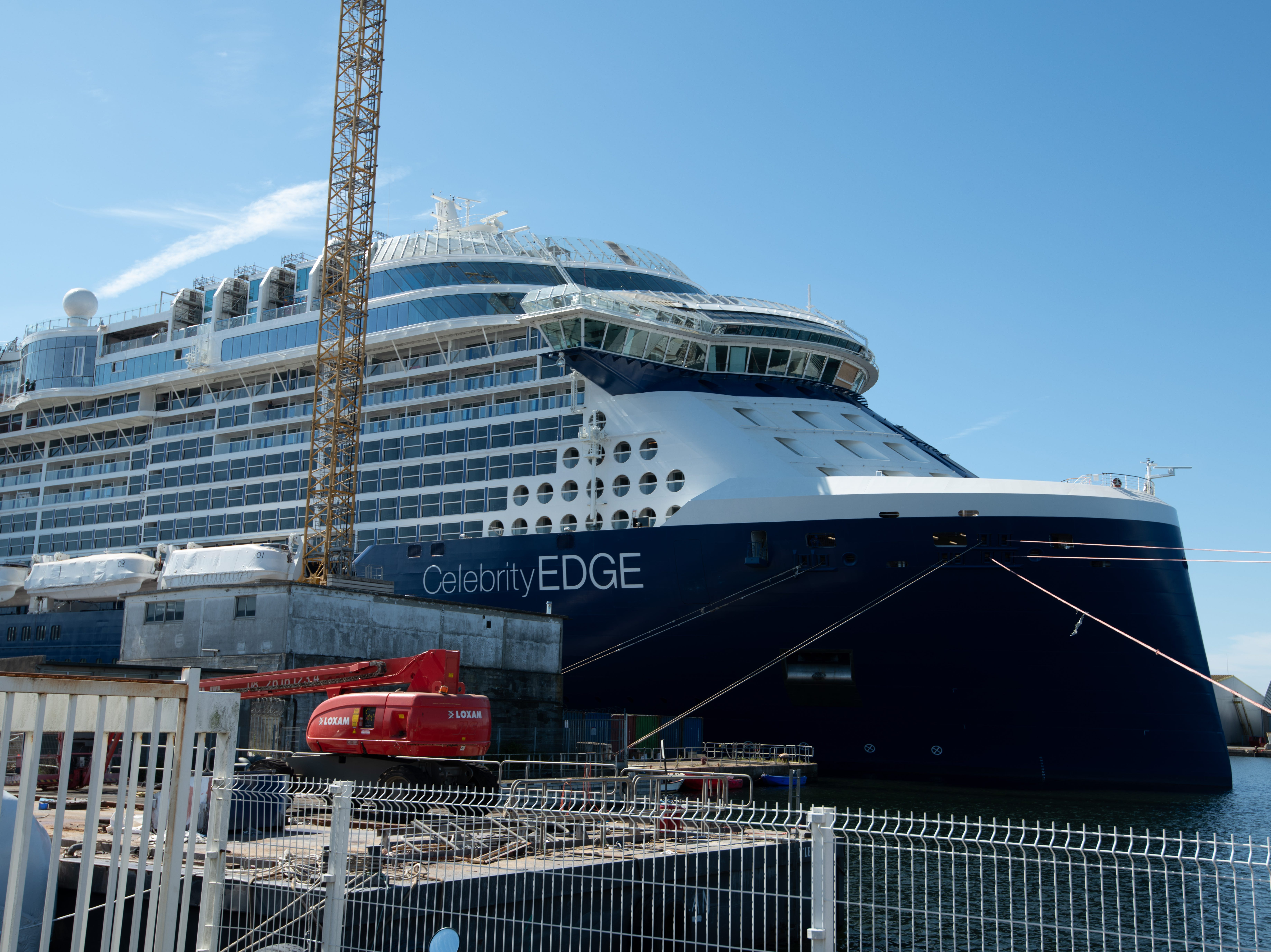 Celebrity Edge is built with an innovative new bow shape.
