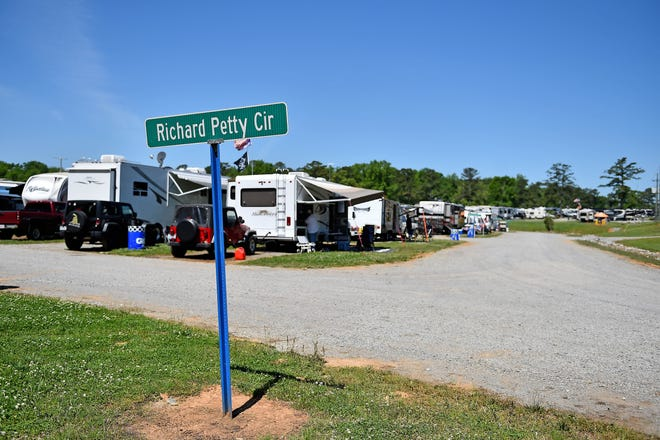 The campgrounds outside Talladega Superspeedway were full for the NASCAR race in April, and could be again this weekend as the Alabama racetrack is welcoming Hurricane Florence evacuees.