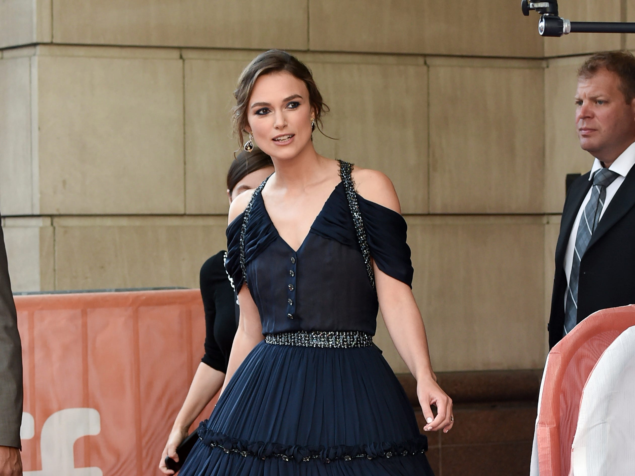 "Actress Keira Knightley attends the ""Colette"" screening on day 6 of the Toronto International Film Festival, at the Princess of Wales Theatre on Tuesday, Sept. 11, 2018, in Toronto. (Photo by Evan Agostini/Invision/AP) ORG XMIT: TOEA126"
