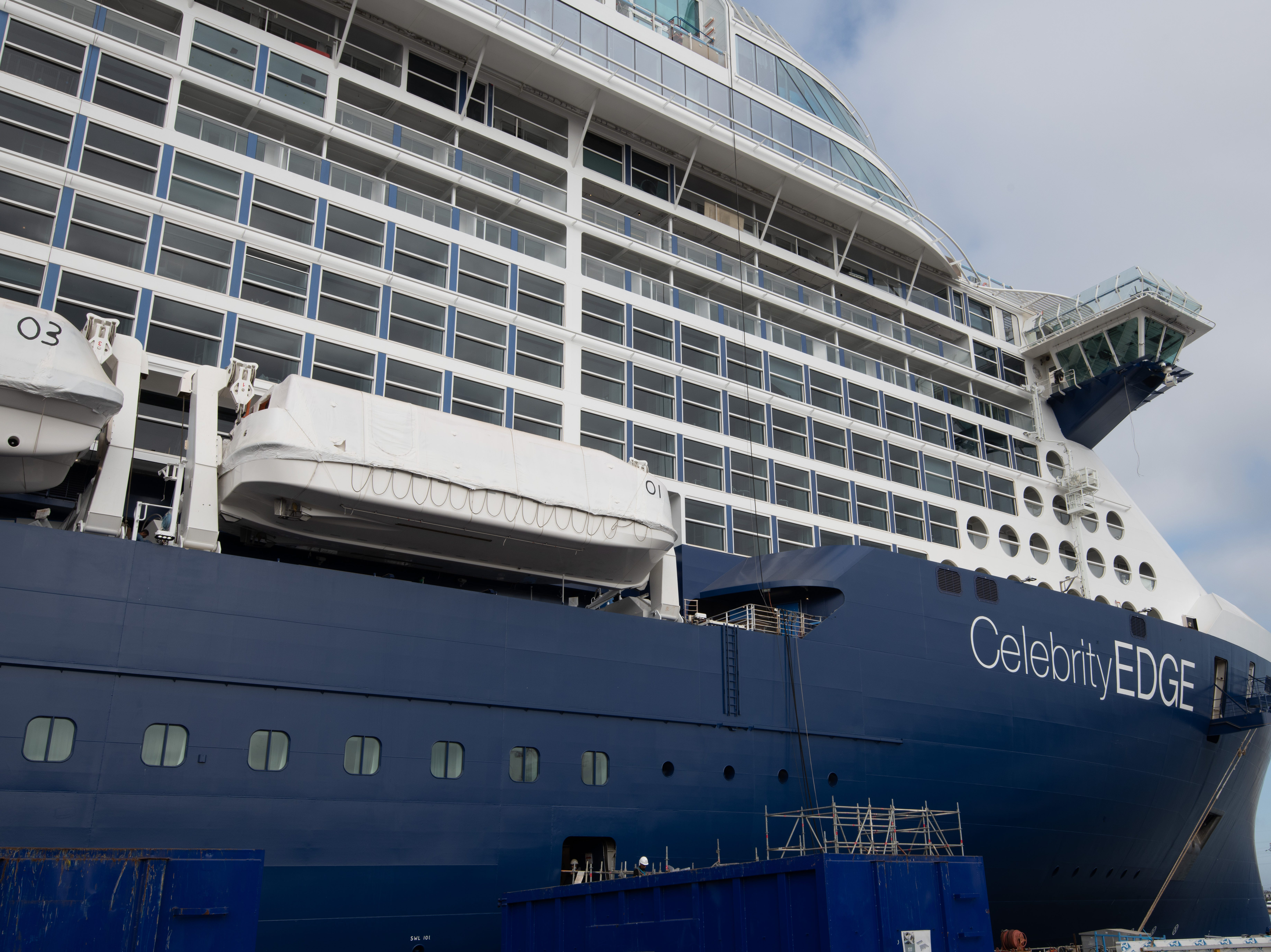Currently under construction at the Chantiers de l'Atlantique shipyard in St. Nazaire, France, Celebrity Edge is the first of a new series of vessels on order for the line.