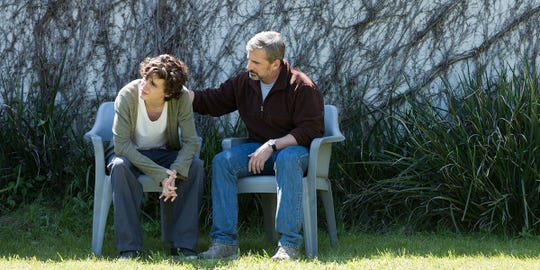"Timothée Chalamet (left) and Steve Carell play a struggling father and son in ""Beautiful Boy."""