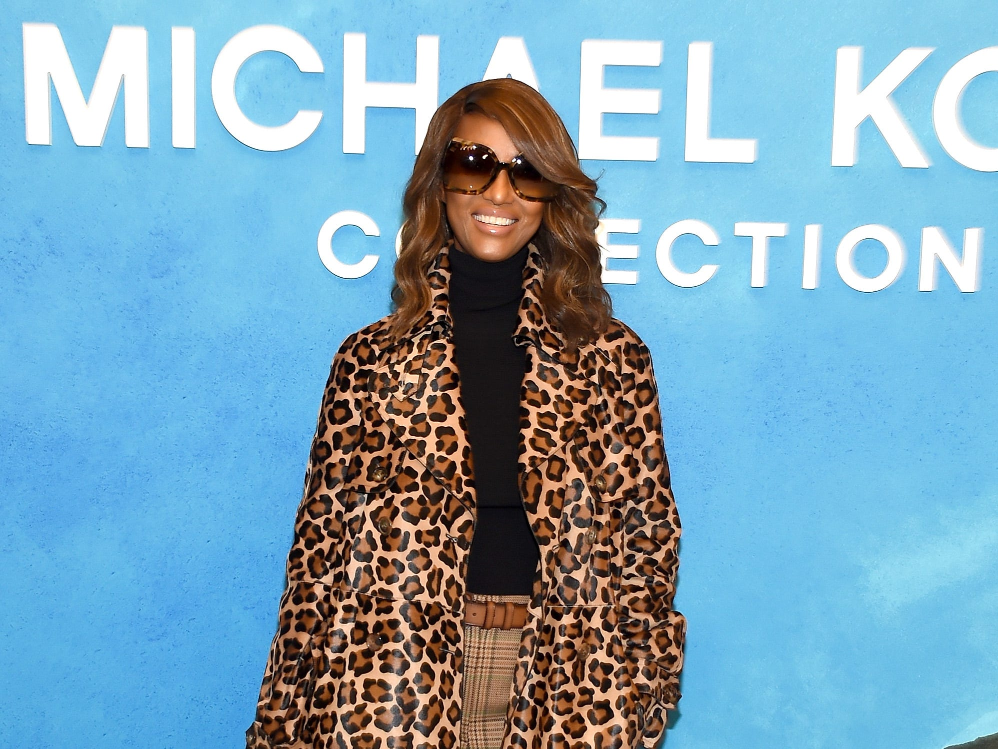 NEW YORK, NY - SEPTEMBER 12:  Iman attends the Michael Kors Collection Spring 2019 Runway Show at Pier 17 on September 12, 2018 in New York City.  (Photo by Larry Busacca/Getty Images for Michael Kors) ORG XMIT: 775216953 ORIG FILE ID: 1032085816