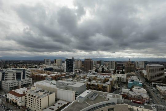 The San Jose skyline Feb. 5, 2013.