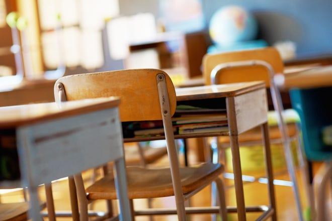 A classroom.