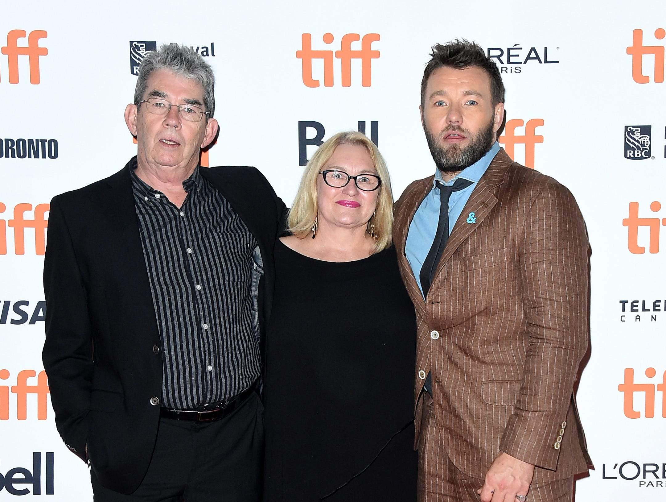 "TORONTO, ON - SEPTEMBER 11: (L-R) Michael Edgerton, Marianne Edgerton and Joel Edgerton attend the ""Boy Erased"" premiere during 2018 Toronto International Film Festival at Princess of Wales Theatre on September 11, 2018 in Toronto, Canada.  (Photo by Michael Loccisano/Getty Images) ORG XMIT: 775218802 ORIG FILE ID: 1031720148"