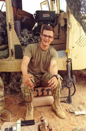 Clemson student Lee Cudd was called to active duty to assist during Hurricane Florence. This photo is from his training.