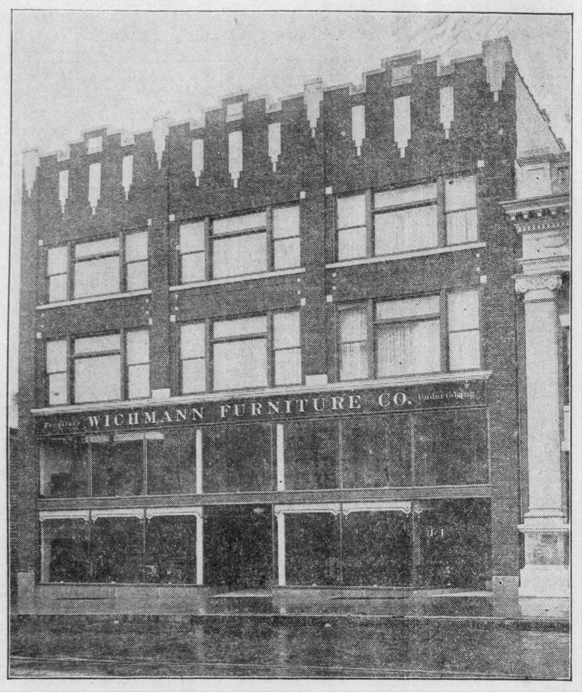 The Wichmann building on College Avenue in the 1920s.