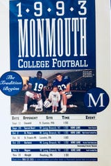 A 2-year-pld Kevin Callahan Jr. on the 1993 Monmouth football schedule during the program's inagural season.