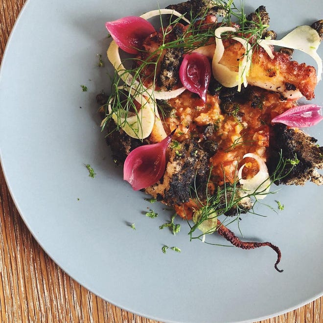 An octopus dish at Felina, which will open in November in Ridgewood.