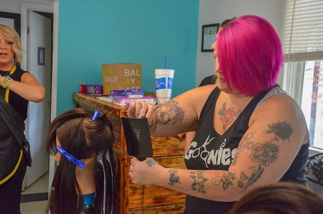 Jennifer Hollon, owner of Jen-Nay's Hair Studio, hosted a balayage class at her salon on Monday, Sept. 10, 2018.