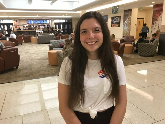 Julia Horowitz, age 18, who voted in the 2018 primary election.