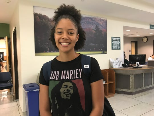 Samantha Smith age 21, after voting in the 2018 primary election at Binghamton University.