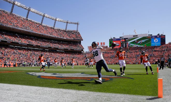 Will Dissly of the Seahawks had arguably the best debut by a rookie tight end in league history. He had three catches for 105 yards and a tight end, all in the first half of Seattle's loss in Denver.