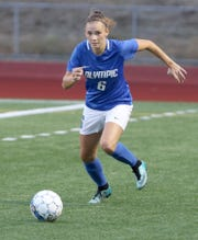 Olympic's Sydney Troy during a Sept. 11 game against North Mason.