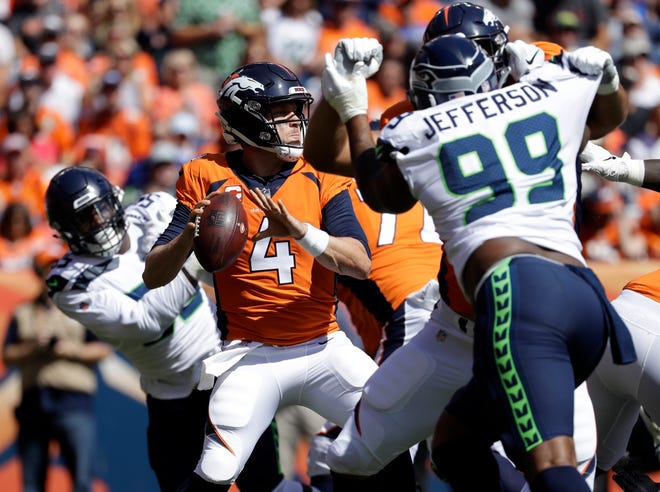 The Seahawks weren't able to apply much pressure on Broncos quarterback Case Keenum during last week's loss in Denver.