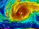 Infrared imagery of Hurricane Florence as it approaches the Carolinas.