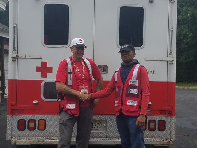 American Red Cross New Jersey Region disaster workers Vincent Giammusso (left) of Gloucester County and Steve Chico of Bergen County head to North Carolina in advance of Hurricane Florence.