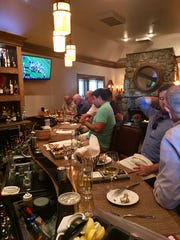Behind the bar at Water and Wine in Watchung.