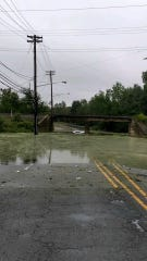 Flooding on Possumtown Road in Piscataway