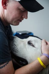 Brice Udelhoven was diagnosed with Rhabdomyosarcoma, a cancer usually found in children in July. His dog Mack has been by his side the whole time.