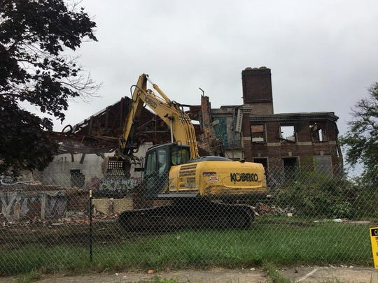 The legendary Kronk Gym in Detroit is torn down on Sept. 13, 2018.
