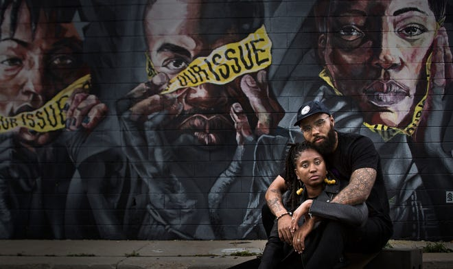 Desire Vincent Levy and her husband, DeAndre Levy, sponsored the Our Issue mural, which uses the concept of hear no evil, see no evil, speak no evil to reference sexual assault and domestic violence. The public art as part of Murals in the Market at Eastern Market, 3400 Russell St.