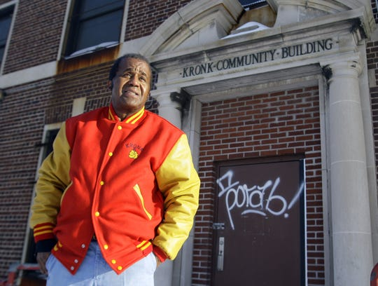 Long time boxing promoter Emanuel Steward  took time to visit the old location of the Kronk Gym on Feb. 6, 2009. Many boxing champions had trained at the Detroit area recreation center before it was closed by the city two years ago .
