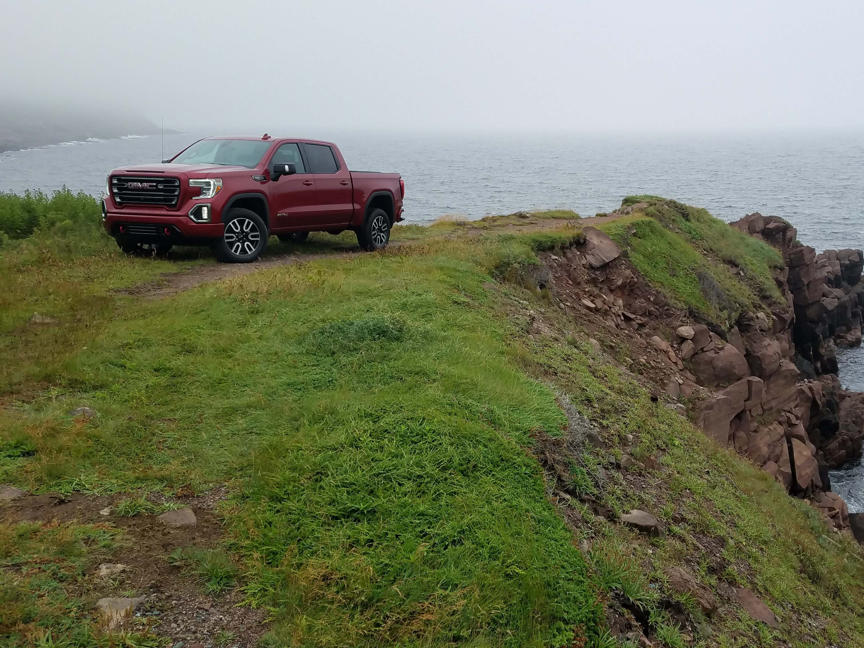 GMC introduced the all-new, more luxurious Sierra pickup on the rigged, wind-swept island of Newfoundland in the North Atlantic.