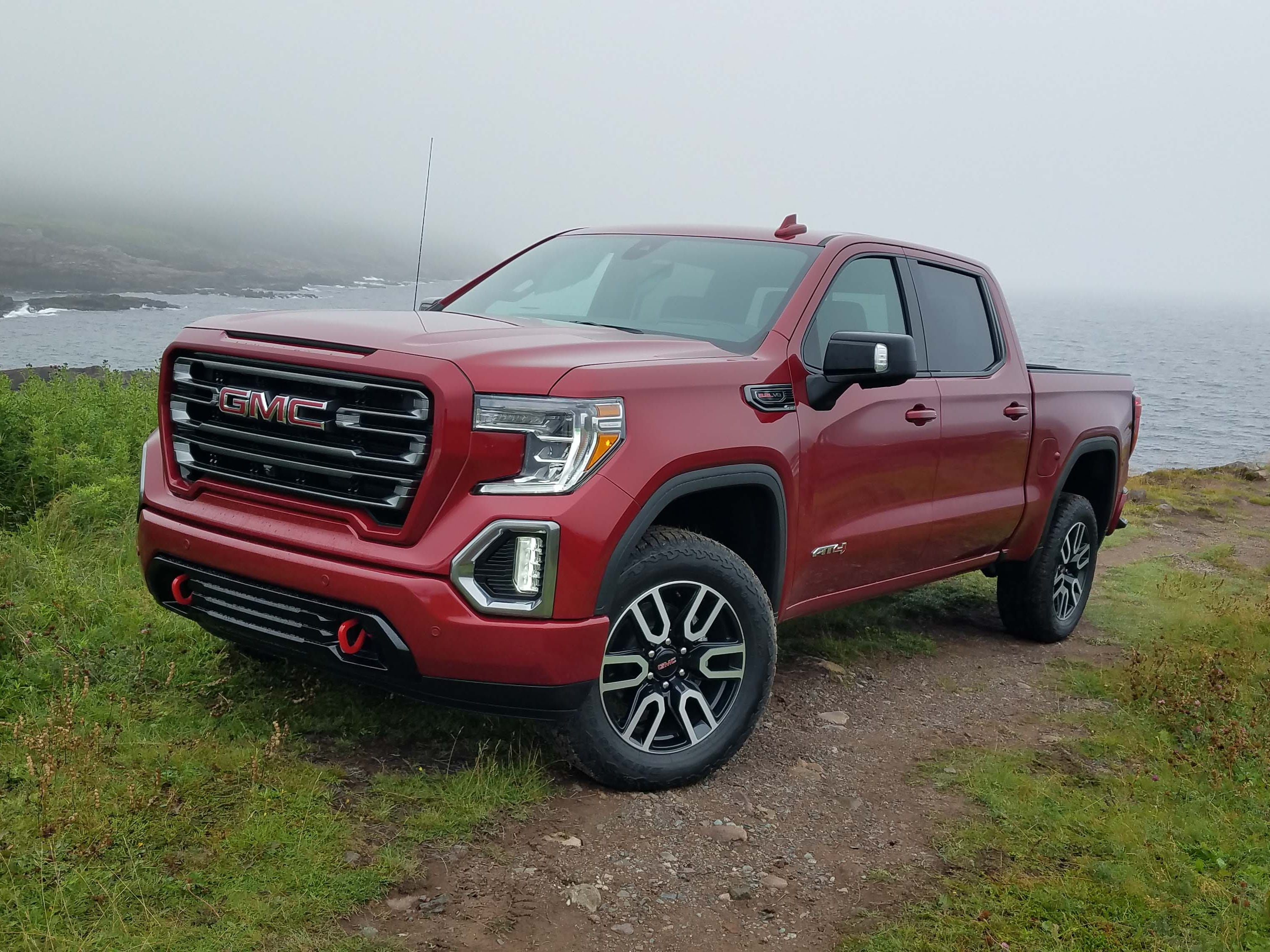 Truck of the Year nominee: The GMC Sierra, seen here in its new top-trim badge -- the AT4. The off-road trim gives the Denali luxury but with a rugged edge for outdoorsy buyers.