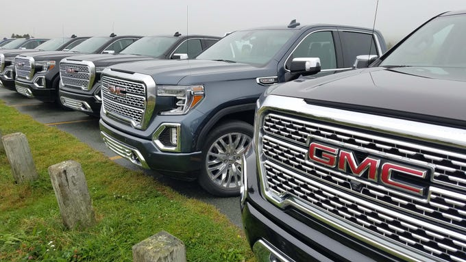 About 75 percent of GMC Sierra sales are upper trim SLT and Denali models with the Denali approaching $70,000 when fully loaded.