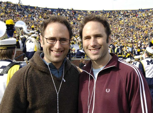 Comics Jason Sklar, left and Randy Sklar are guest on Angelique Chengelis' podcast, View from the Press Box.