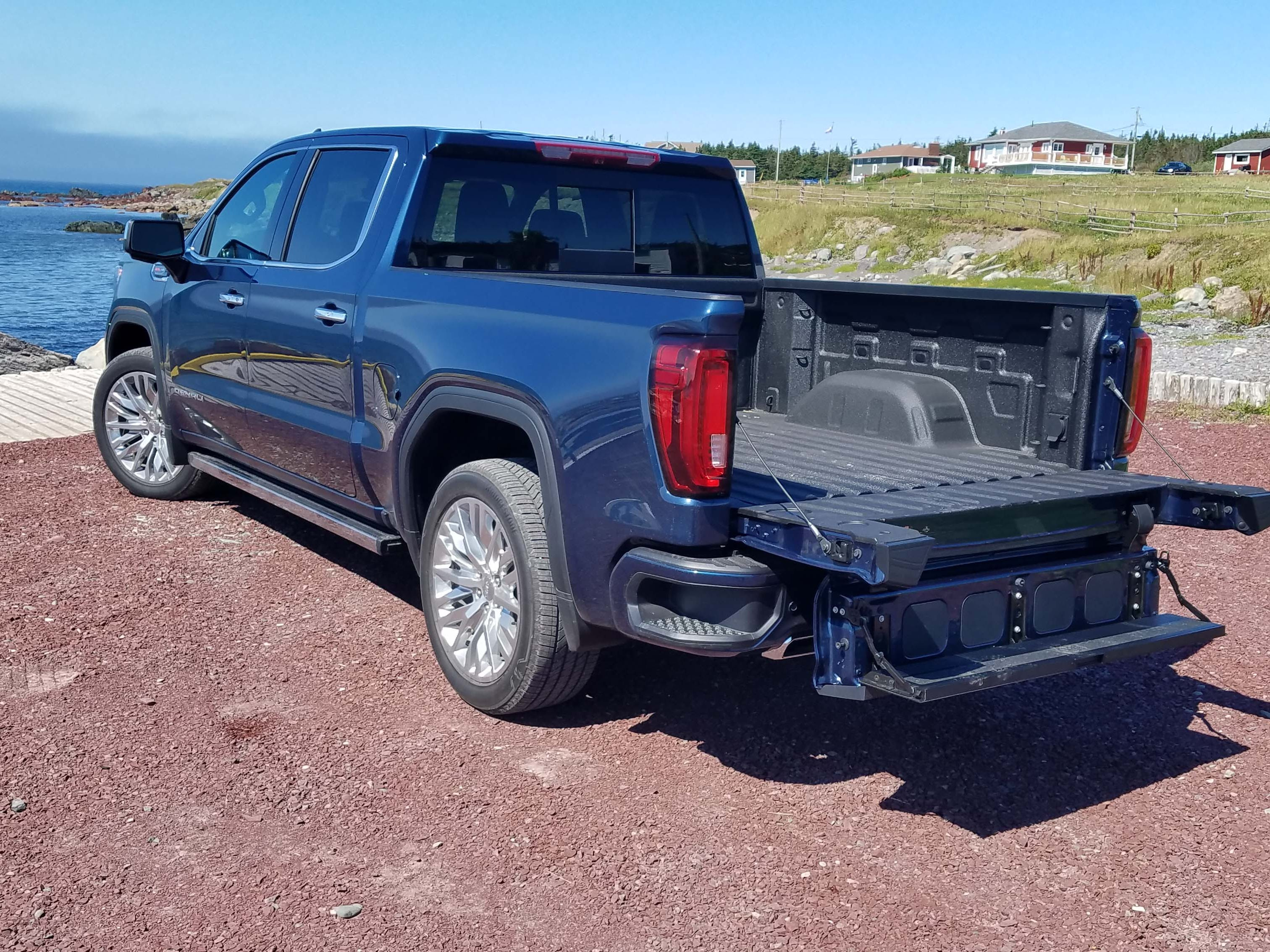 The 2019 GMC Sierra separates itself from the Chevy brand with exclusive features like a six-way MultiPro bed. The bed is standard on upper trims SLT, Denali, and AT4.