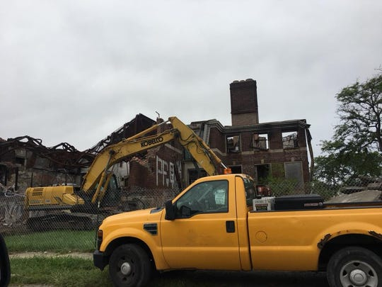 Demolition on the Kronk Gym began Thursday, Sept. 13, 2018.