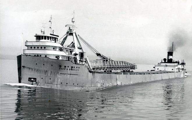 The bulk-carrier Carl D. Bradley in Lake Michigan hit tragedy on Nov. 18, 1958.