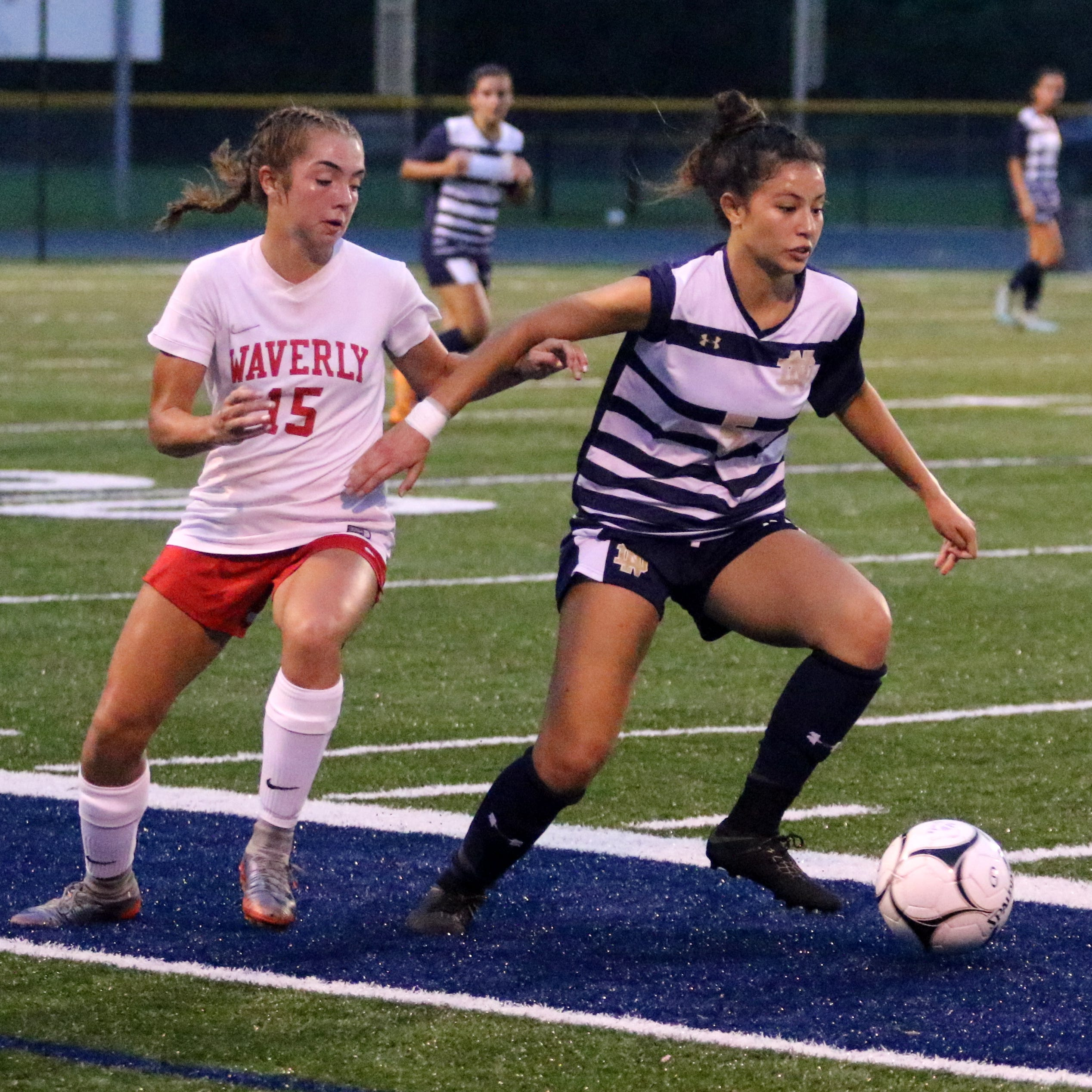 Reunion of IAC girls soccer powers goes Waverly's way with 4-0 win over Notre Dame