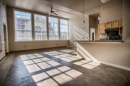 Historical features, such as the stone work, black boards, built-in cabinets, terrazzo and wood floors were restored into the apartments through the $10 million project. Commonwealth St. Mary's, St. Joe's. July 29, 2018.