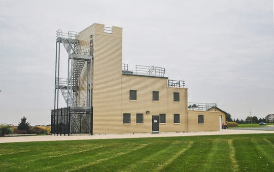 A photo of a public safety training tower used by fire and police departments was on display Wednesday, September 12, 2018 at a ground breaking ceremony for City of Fond du Lac's training tower which will be built at 750 north Rolling Meadows Drive. Doug Raflik/USA TODAY NETWORK-Wisconsin