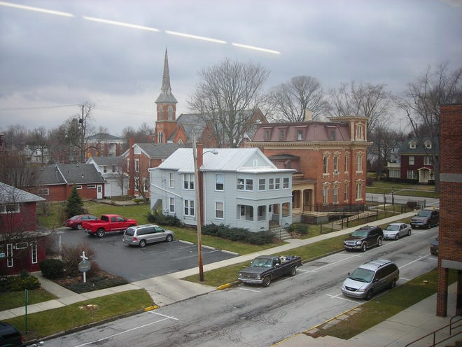 This photo was taken from the third floor of the Middle School on March 1, 2012.