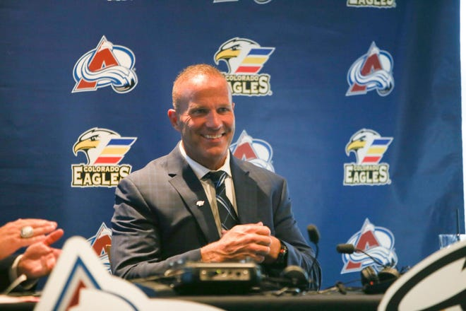 New Colorado Eagles coach Greg Cronin  met local media and fans during a meet-and-greet session Wednesday at The Summit in Loveland.