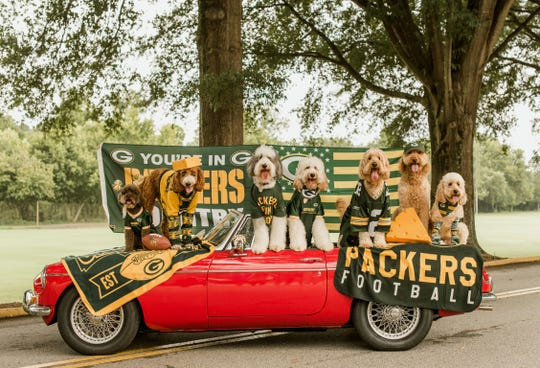 That Dood Squad gets its green and gold on for the Packers season. The Instagram stars live in Atlanta, but two of the seven have owners with Wisconsin ties.