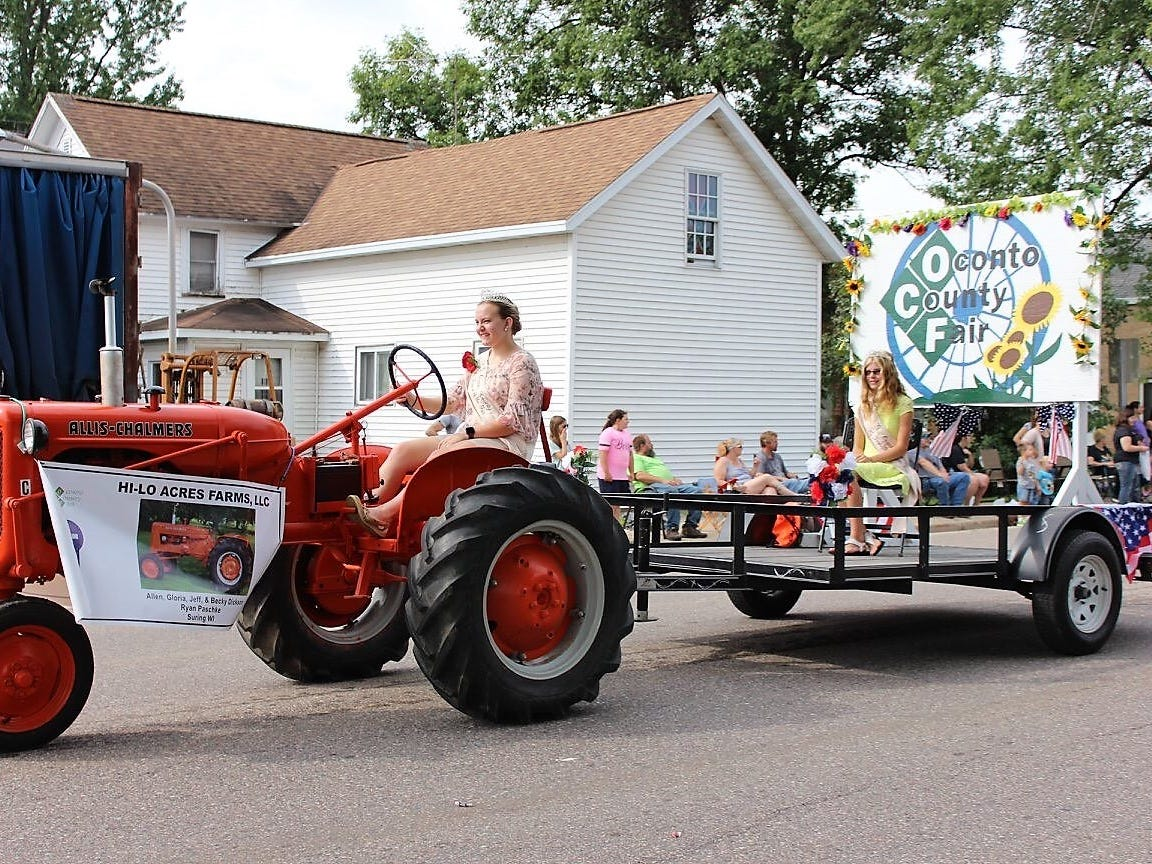 The Oconto Fairest of the Fair float was one of eight entries judged best of show in the 88th Suring Labor Day Parade.