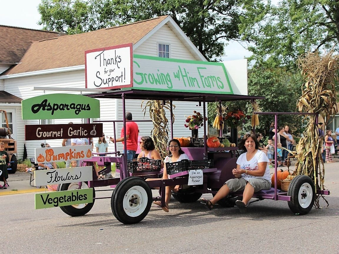 The Growing With Him Farms float was one of eight entries judged best of show in the 88th Suring Labor Day Parade.