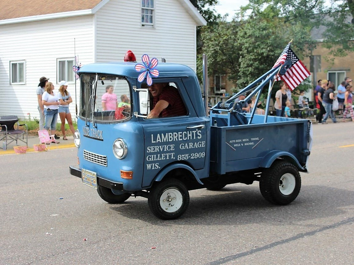 This in the second half of the Lambrecht Service Garage float, one of eight entries judged best of show in the 88th Suring Labor Day Parade.